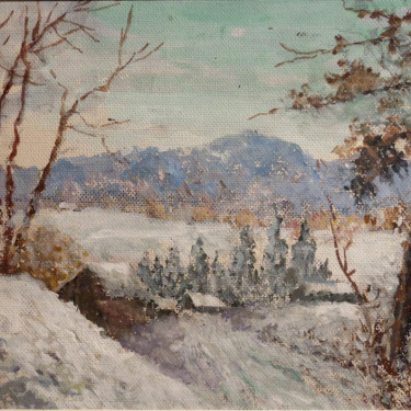 Henry H Smithers New England Winter 7x9 Gouache