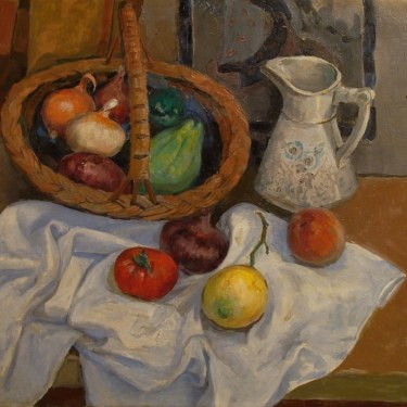 Irving Manior Still Life with Vegetables 20x24 Oil on Canvas