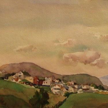 William Ross Cameron Haydenville 7x10 Watercolor