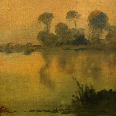 Charles Warren Eaton Early Morning Haze 12x9 Canvas on Board