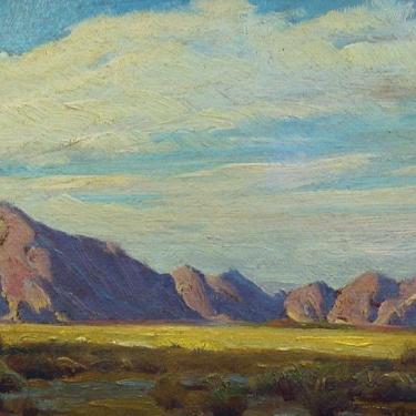 Clyde Forsythe Desert Shadows 7x12 Oil on Board