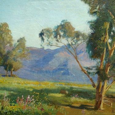 Adolph M. Brougier Santa Barbara Landscape 18x24 Oil on Board