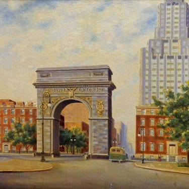 0 Alexander Nelke Columbus Circle 16x20 oil on canvas