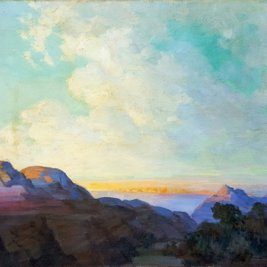 Alfred James Dewey Valley Sunset 40x48 oil on board