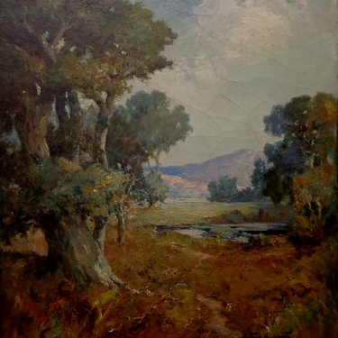 Arthur Beckwith California Valley 42x30 oil on canvas