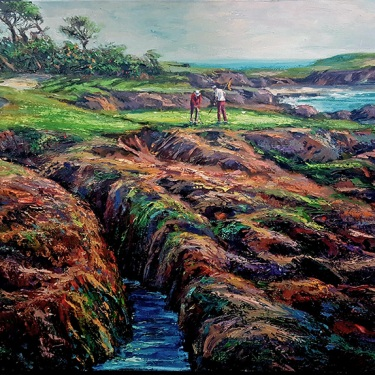 Ben Abril Morning at Cypress Point 40x48 Oil on Canvas