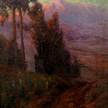 Benjamin Brown Sunset on Mt Baldy 17x12 oil on canvas