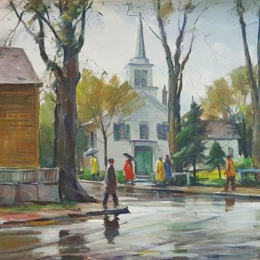 Carl W Peters Rainy Day Cape Ann 20x24 Oil on Canvas