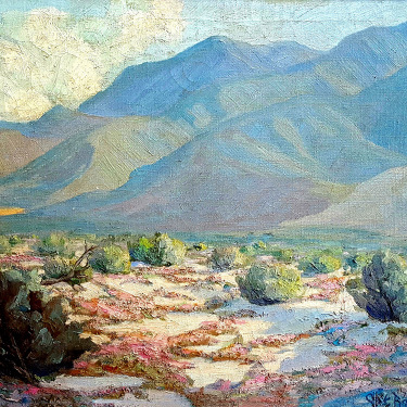 Cliff Baldwin Spring Desert Verbena 20x24 Oil on Canvas