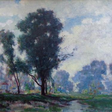 Dedrick Stuber Silvery Reflections 25x30 Oil on Canvas