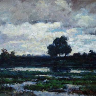 Dedrick Stuber Storm Clouds 20x24 Oil on Canvas