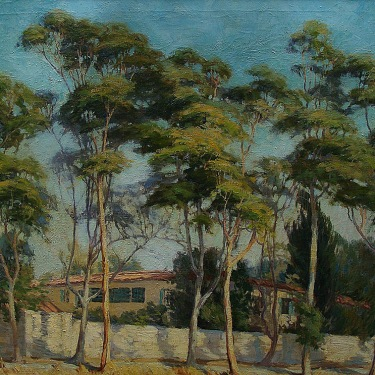 F. H. Kirkpatrick Montecito Hideway 30x36 Oil on Canvas