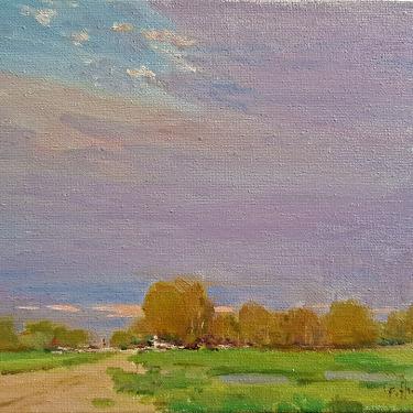 Felice Hrovat Distant Thunder 8x10 Oil on Canvas