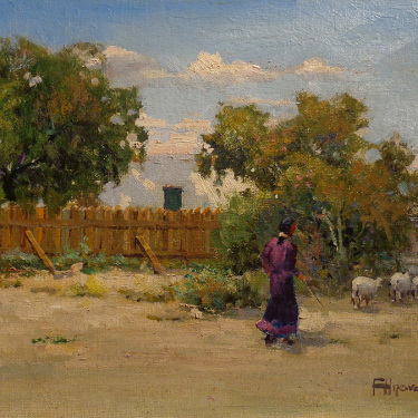 Felice Hrovat New Mexico Homstead 9x12 Oil on Canvas
