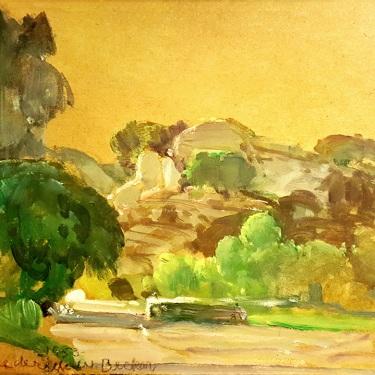 Frederick W. Becker Spahn Ranch Chatsworth 8x10 Oil on Board