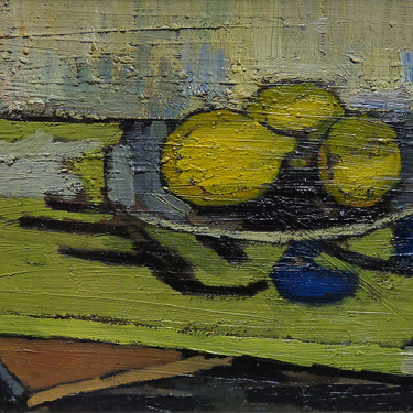 Jaques Boussard Still Life with Lemons 10.5x18 Oil on Canvas