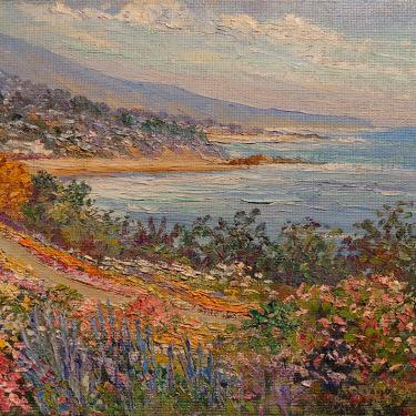 Joane Cromwell Flowering Cliffs 8x10 Oil on Board