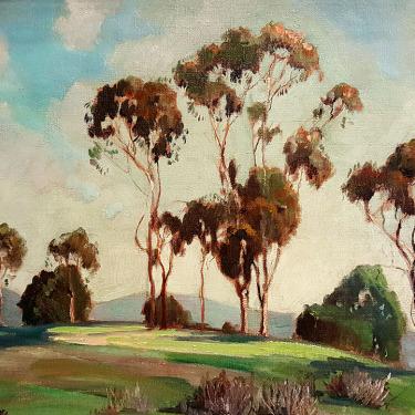 Mabel Burnette California Hilltop 16x20 Oil on Board