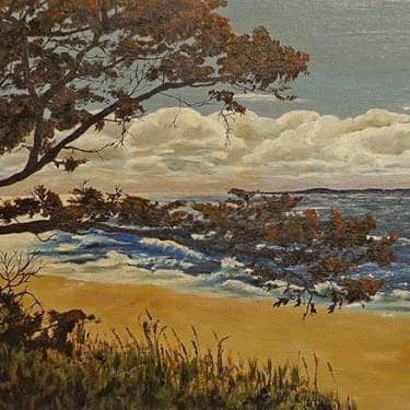 0 S. Van Dyken California Coast Vista 15x30 Oil on Board