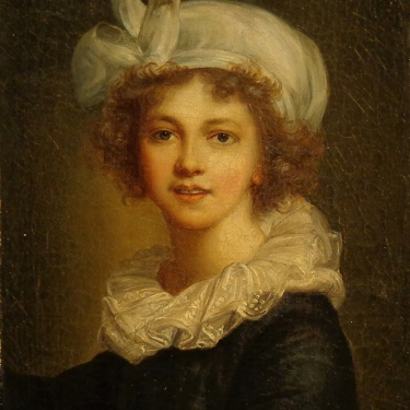 European Style Painting of a Young Girl