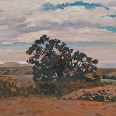 Vic Schiro Overlooking Point Conception 14x18 Oil on Board