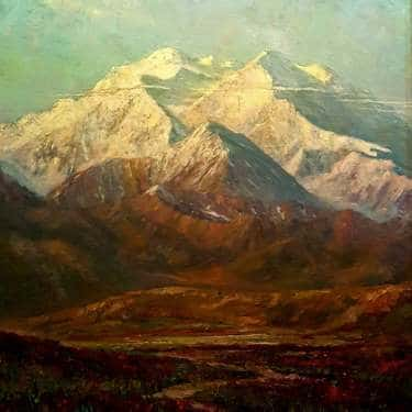 0 William Dorsey Mt McKinley Denali 40x30 Oil on board