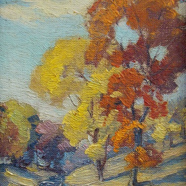 William H. Eppens Autumn Color 7x5 Oil on Board