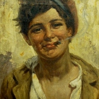 A Villone The Gypsy Boy 16x22 Oil