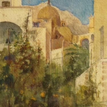 Ada Frances Lathrop Capri 9x7 Watercolor