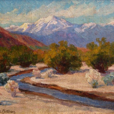 Alice B Chittenden Palm Springs Creek 12x16 Oil on Canvas