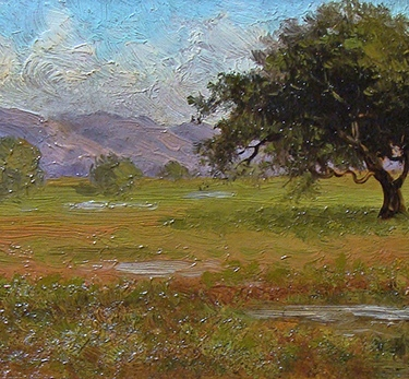 Annie Harmon Early California Woman Painter Oak Trees and Meadow