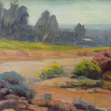 Arthur G Andersen Arroyo Seco San Fernando Valley 10x12 Oil on Canvas