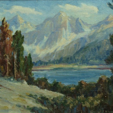 Arthur J. Stephens Sierra Lake 9x11 Oil on Board
