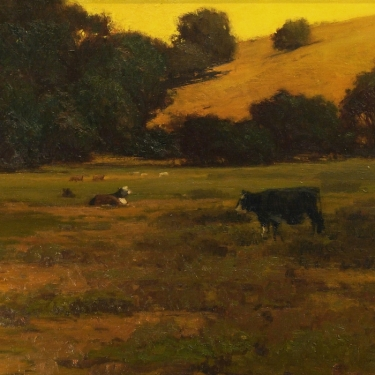 Brian Blood Out to Pasture 24x30 Oil on Canvas