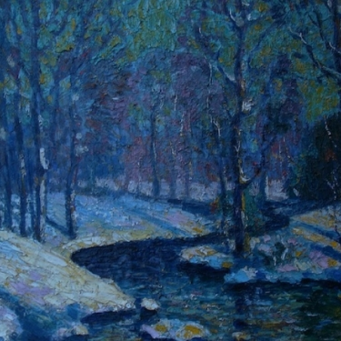 Carl Gustave Nelson Winter Color 16x24 Oil