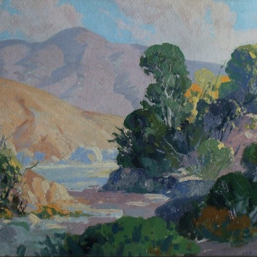 Carl Sammons California Foothills 11x15 Oil on Board