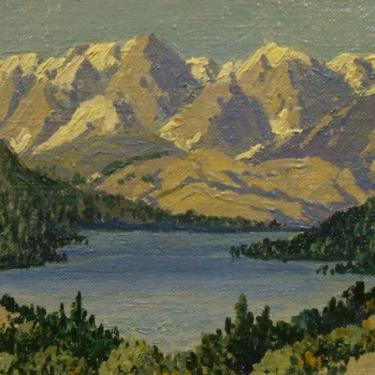 Carl Sammons Sierra Lake 6x8 Oil