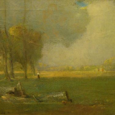 Carl Schmitt Pastoral Scene 15x18 Oil