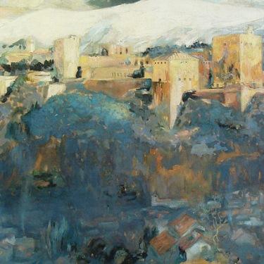 Charles Austin Ayers The Granada 40x72 Oil on Canvas