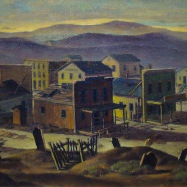 Charles Drogkamp Boot Hill California Ghost Town 20x30 Oil