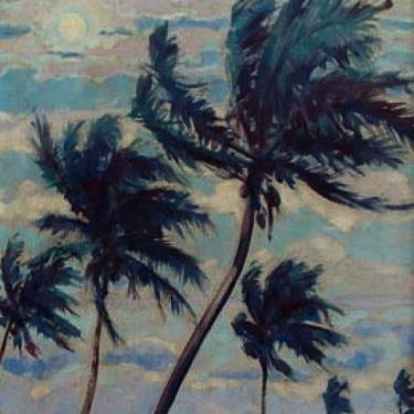 Charles Drogkamp Coconut Palms 17x13 Oil