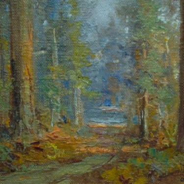 Forest Path by Charles Henry Harmon Oil Painting