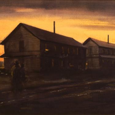 Charles Keck Alaska Barracks 9x12 Watercolor