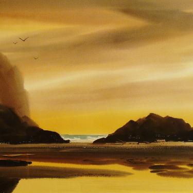 Charles Mulvey Low Tide 22x30 Watercolor