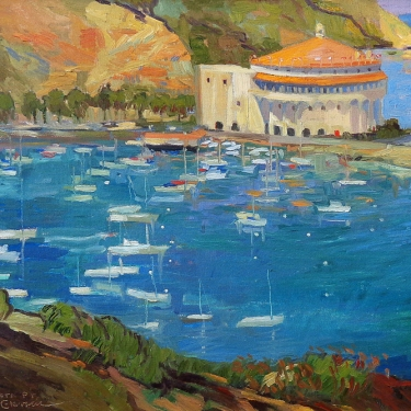 Chuck Kovacic Buena Vista Point Catalina 18x24 Oil on Canvas
