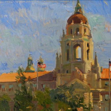 Chuck Kovacic Pasadena City Hall 12x16 Oil on Board
