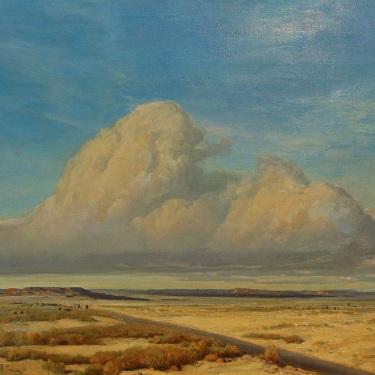 Clyde Scott Distant Thunderhead 24x30 Oil on Canvas