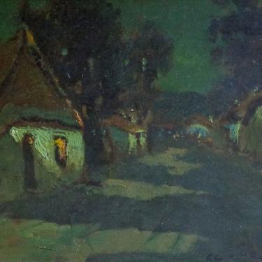 """Charles Rollo Peters """"Moonlight"""" 12x18 Oil on Canvas"""