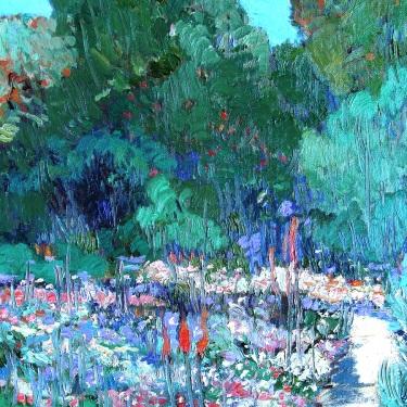 Chuck Kovacic LA Arboretum 18x24 Oil on Board