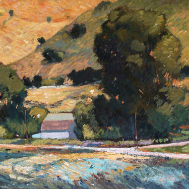 Chuck Kovacic San Luis Obispo Hillside 14x18 Oil on Board